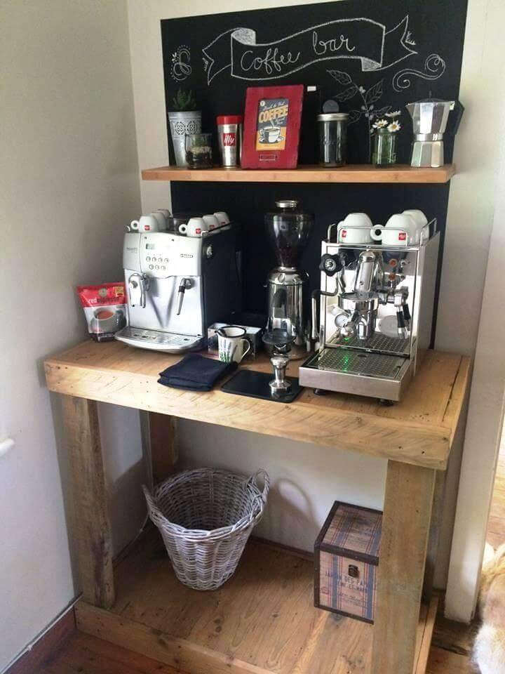 storage table for kitchen from pallets