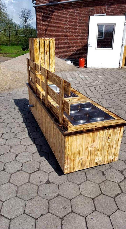 Mud kitchen upcycled pallet mud kitchen pallet kitchen counter with - Low Cost Wooden Pallet Mud Kitchen