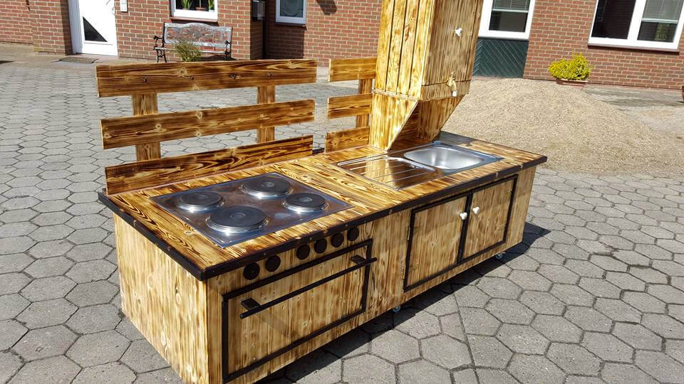 diy wooden pallet scorched mud kitchen