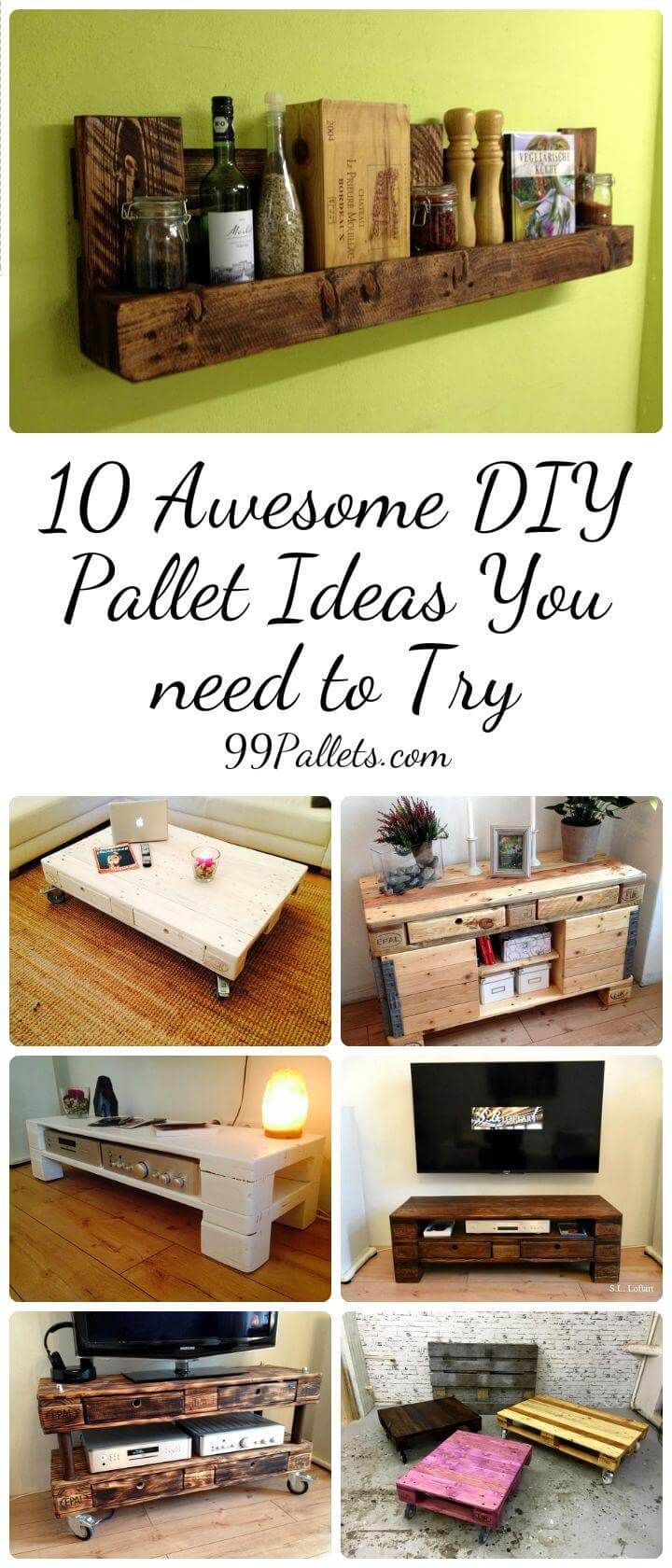 10 Awesome DIY Pallet Ideas You Need To Try