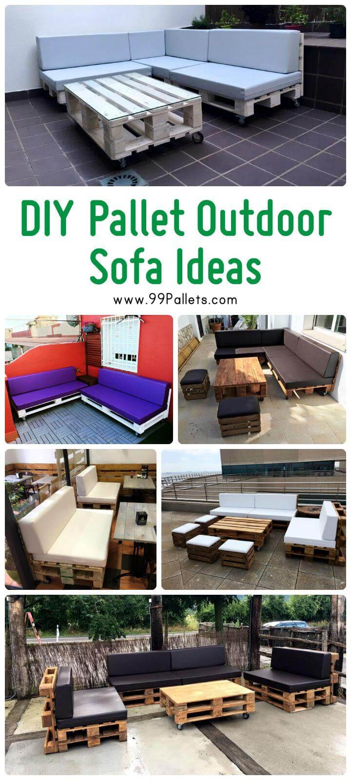 Diy outdoor patio furniture from pallets 99 pallets - Pallet Sofa