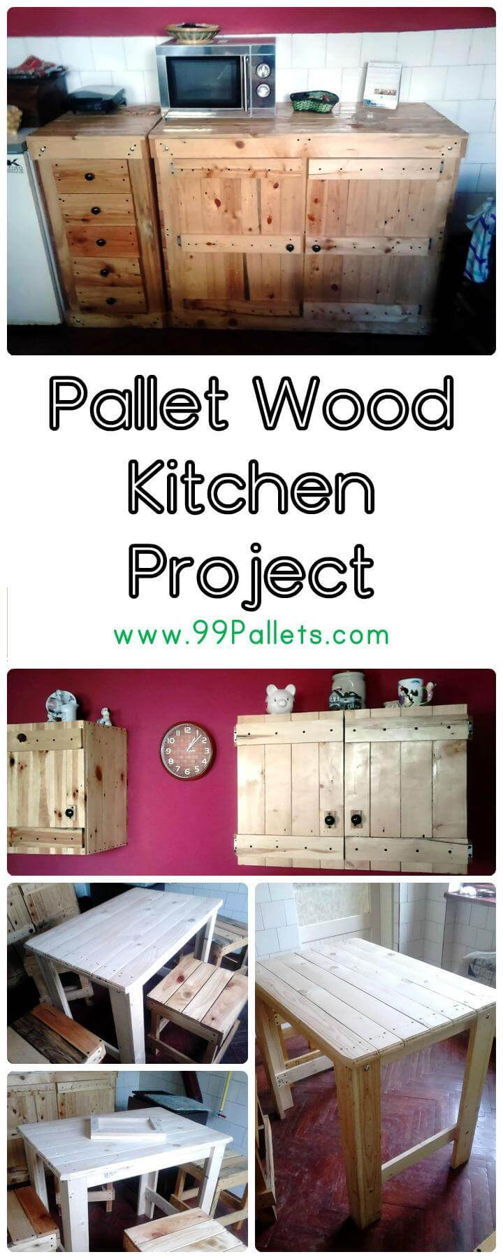 Wooden Kitchen Projects ~ Pallet wood kitchen project pallets