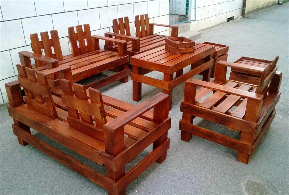 pallet outdoor furniture for seating