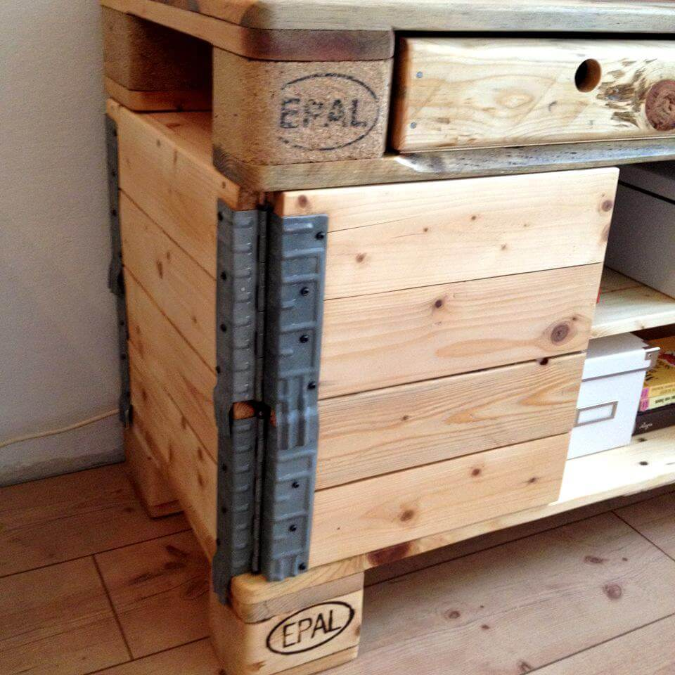 Re-purposed pallet side board