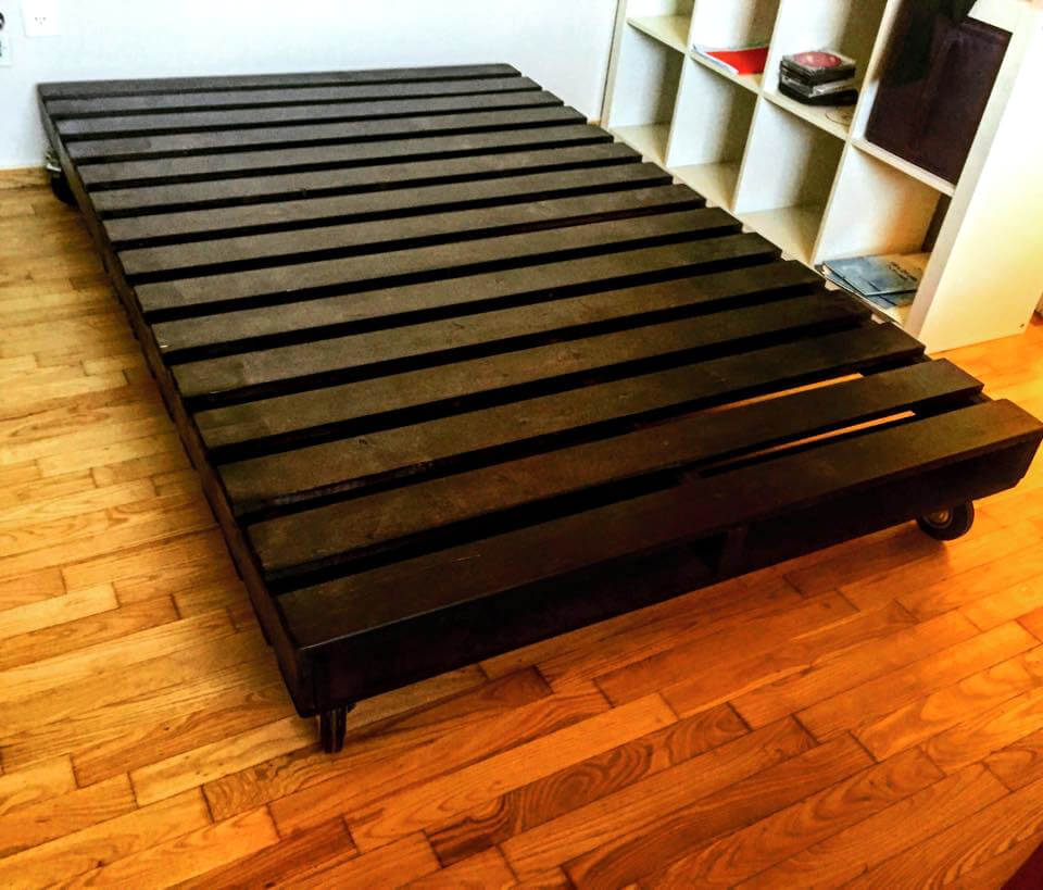 Permalink to build a platform bed using pallets
