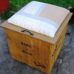 Pallet Beanbag Seat  with Book Storage