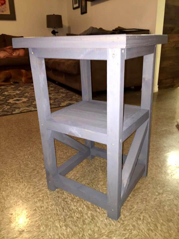 simple and stylish pallet night stand