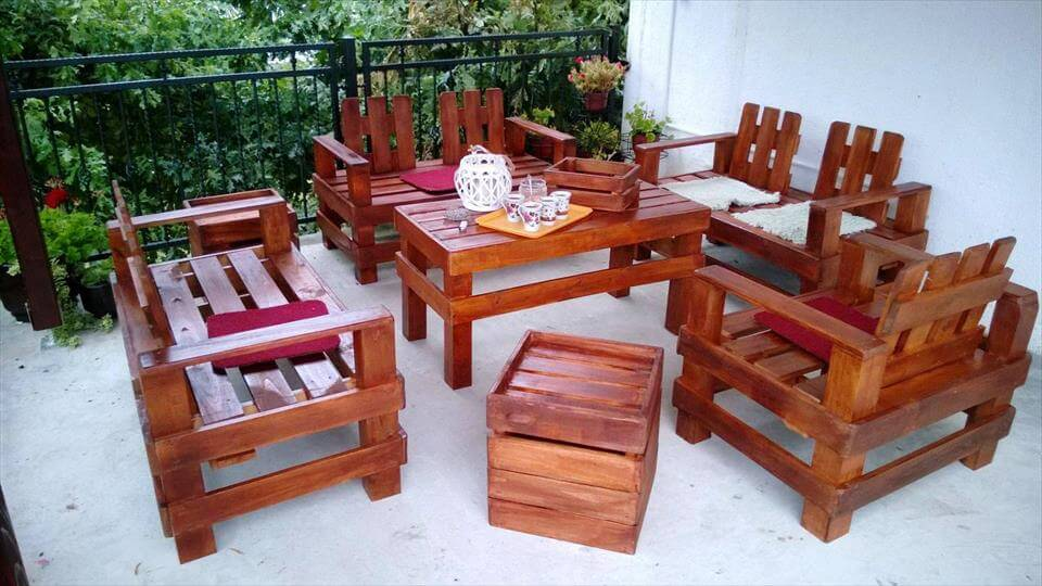Wooden Pallet Outdoor Furniture For Seating