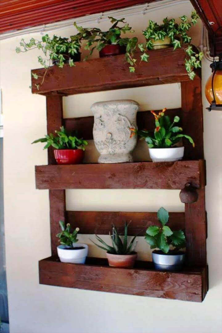 wooden pallet pot organizer for walls