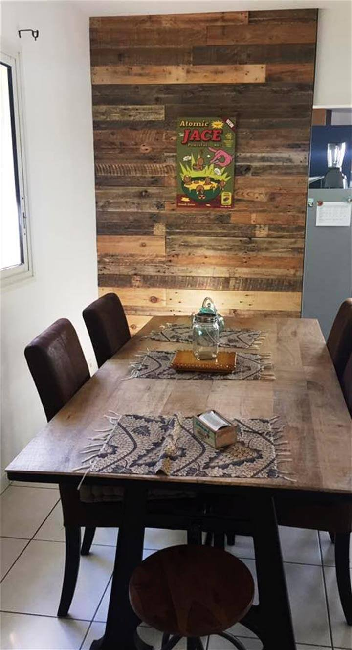 recycled pallet wall cladding idea
