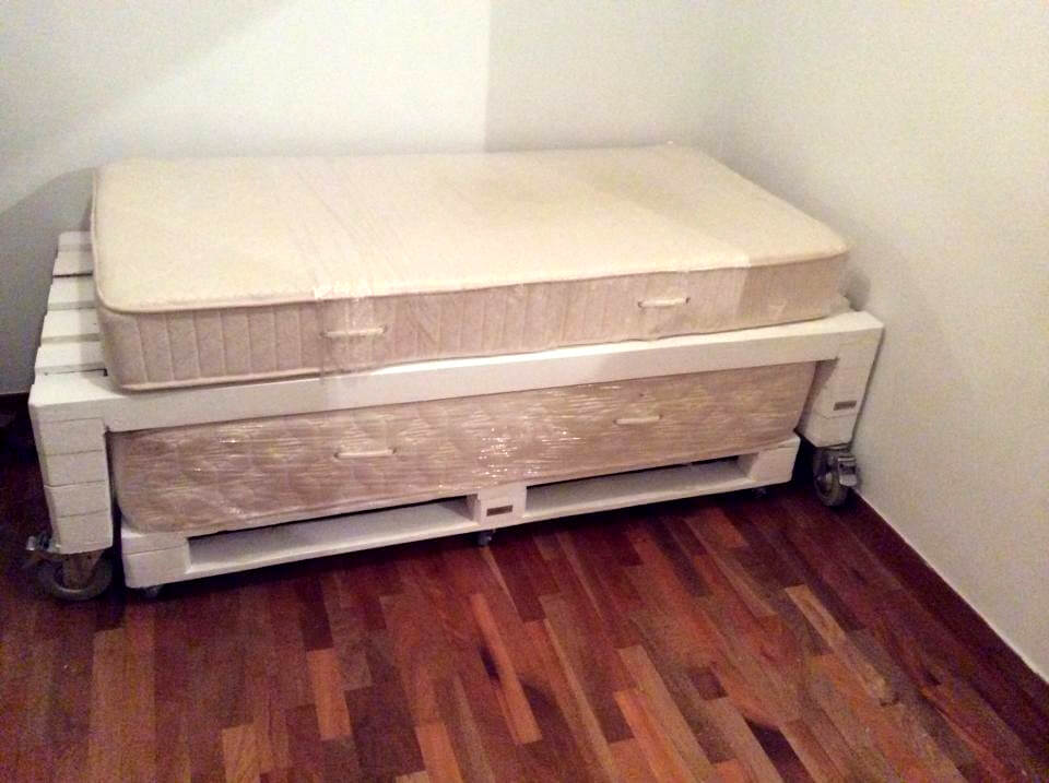 easy-to-build but highly stable wooden platform bed done with pallets ...