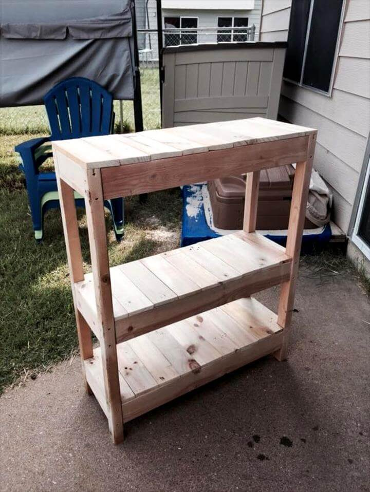 Foyer Table Made From Pallets : Wooden pallet entryway table