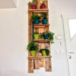 Wall Mounted Pallet Pot Organizer