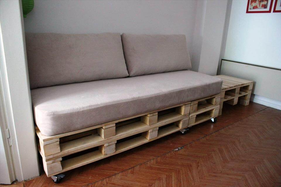 pallet sofa and coffee table set