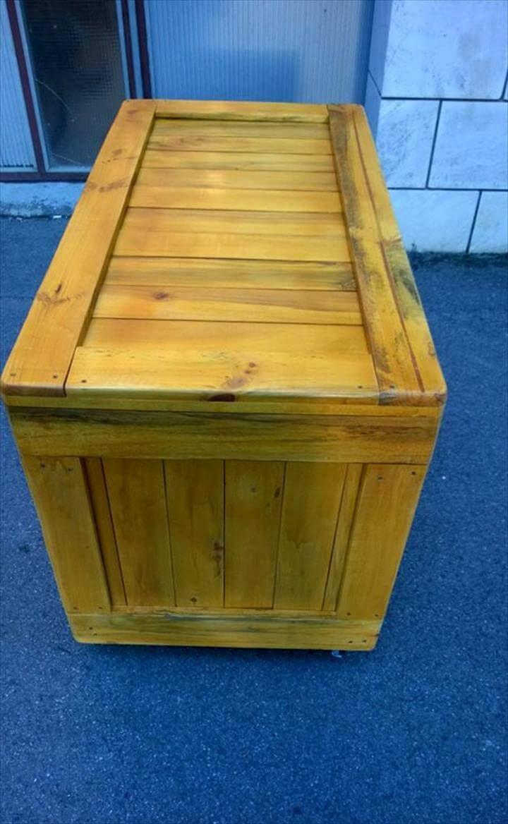 repurposed wooden pallet dresser or sideboard