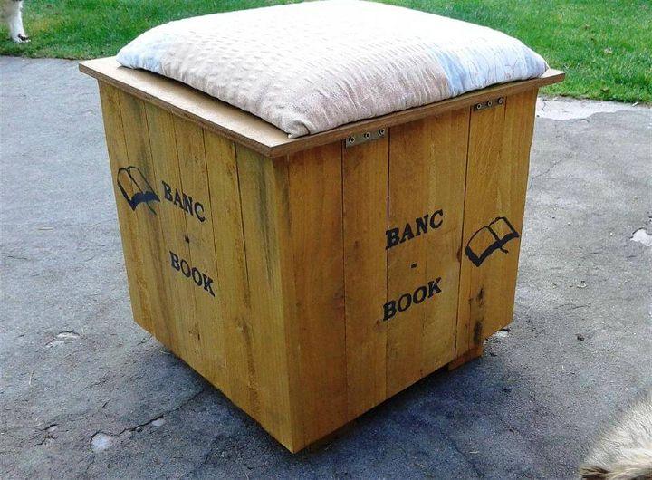 rustic pallet beanbag chair