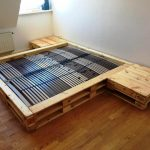 Cozy Pallet Bed with Side Tables