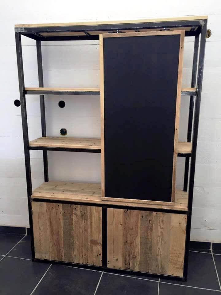 Wooden pallet closet
