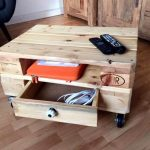 Mini Pallet Coffee Table On Wheels