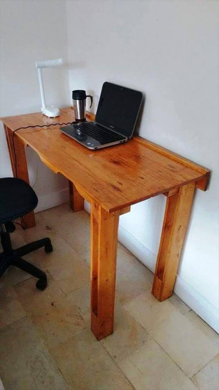 wooden pallet computer desk
