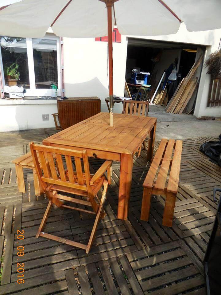 diy awesome pallet dining set