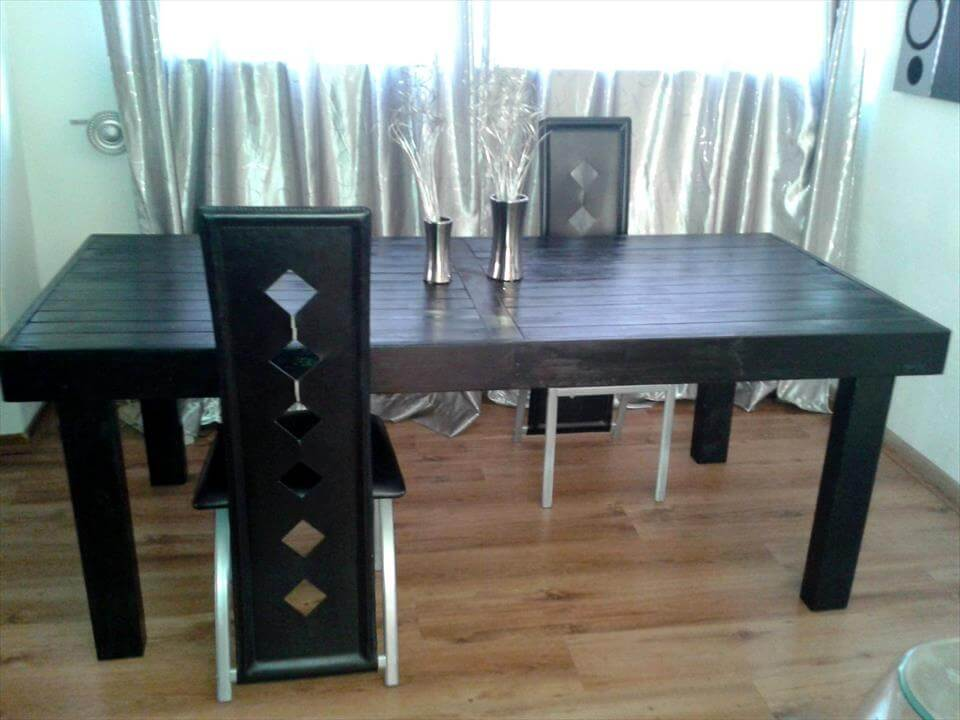 diy pallet dining table