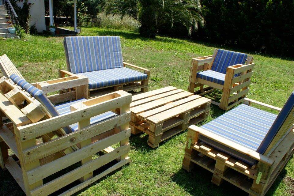 furniture out of wooden pallets. handmade pallet seating for garden furniture out of wooden pallets r