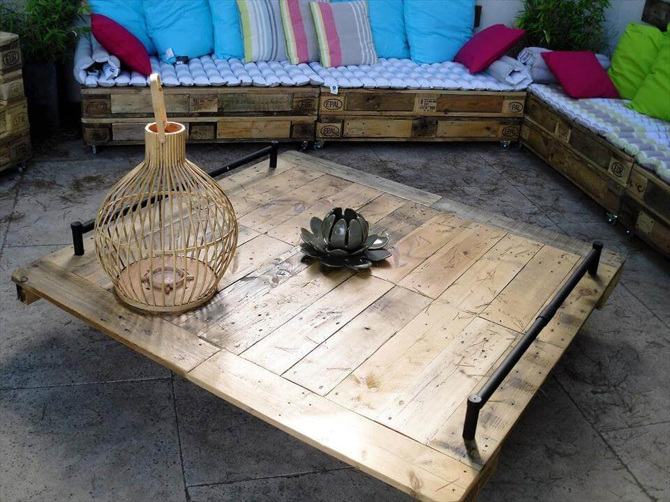 handmade wooden pallet sofa set