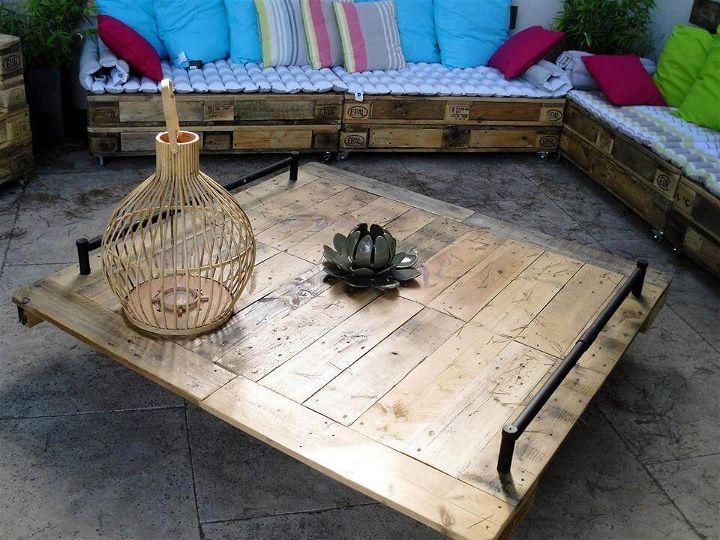 handmade wooden pallet sofa set