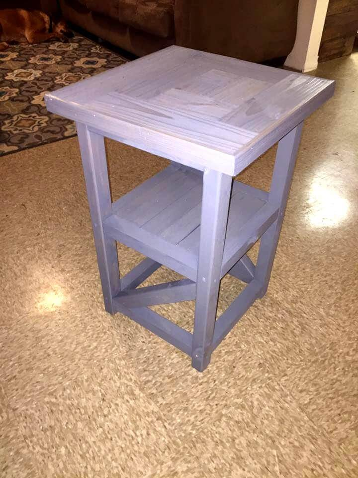 wooden pallet night stand