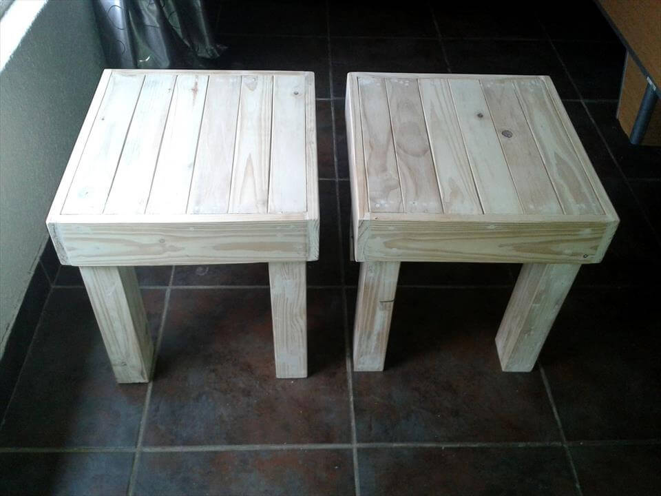 pallet made stools