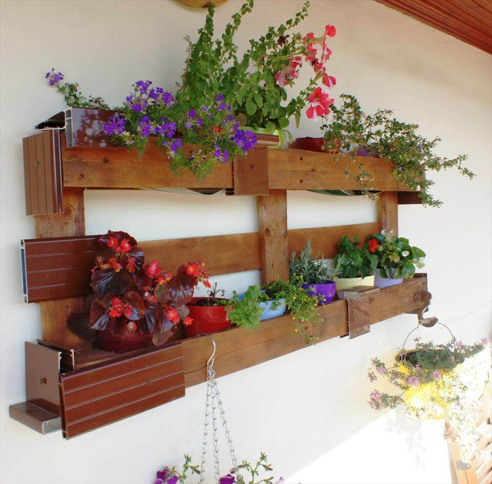 awesome pallet pot organizer for walls