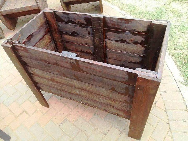 raised pallet planter box 99 pallets