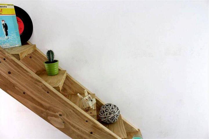 wooden pallet shelf for walls