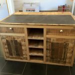 Pallet Sideboard with Drawers, Cabinets & Folding Bar
