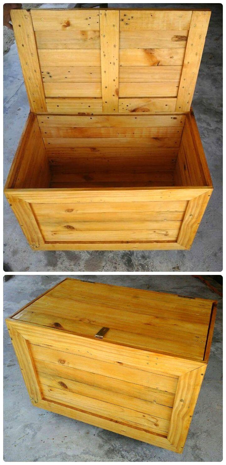 handmade wooden pallet storage box
