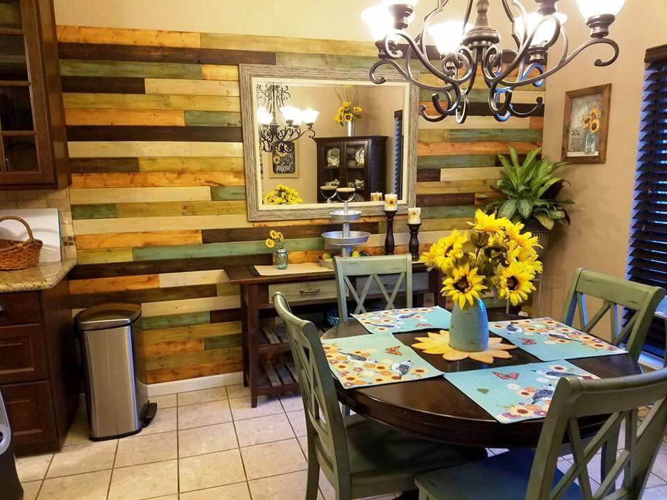 wooden pallet made wall