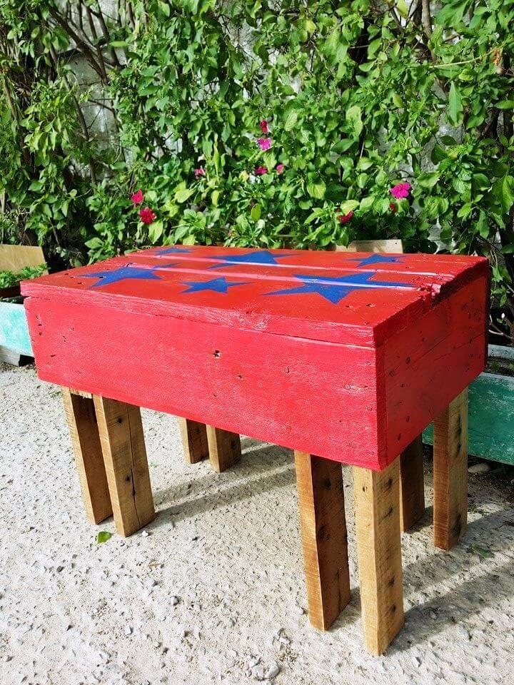 handmade wooden pallet garden bench