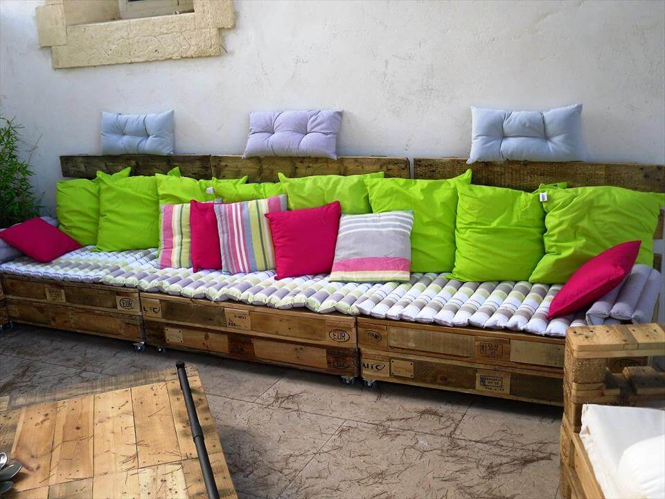 pallet patio or garden party lounge