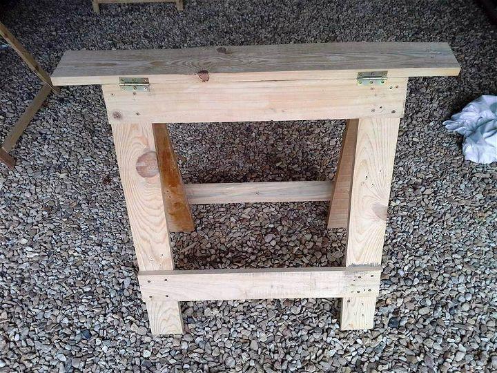 handmade pallet trestle legs