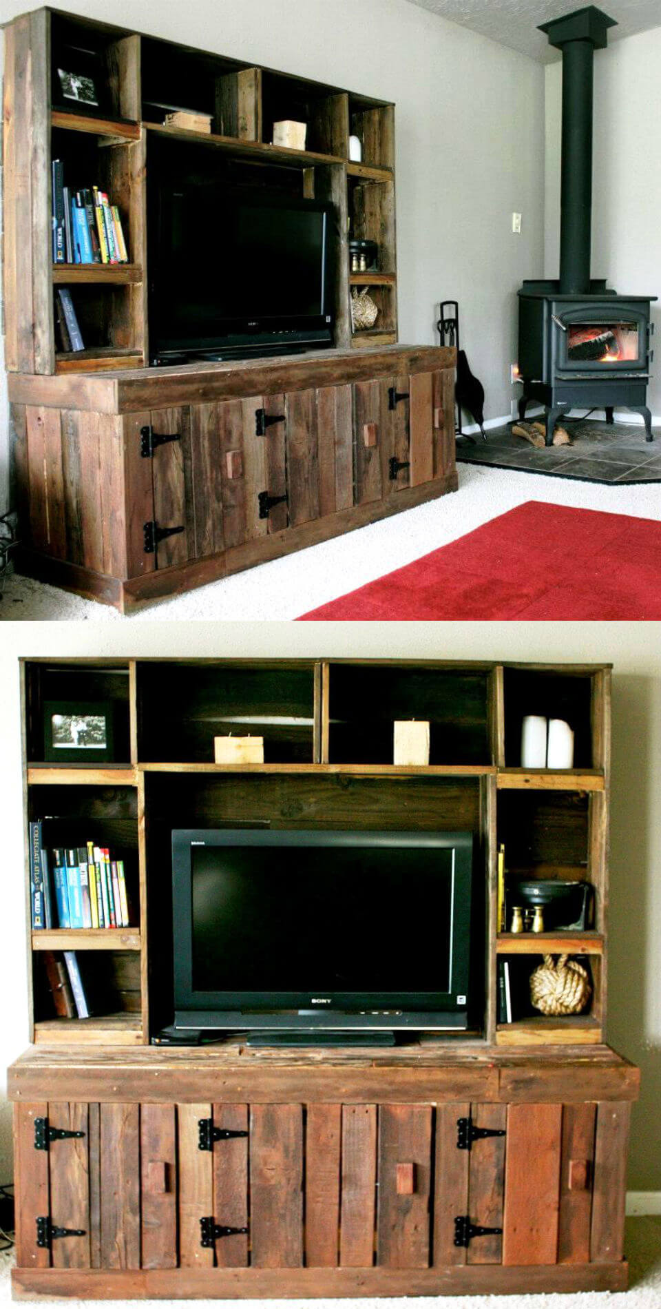 diy pallet entertainment center 20 pallet ideas you can diy for your home 99 pallets 678