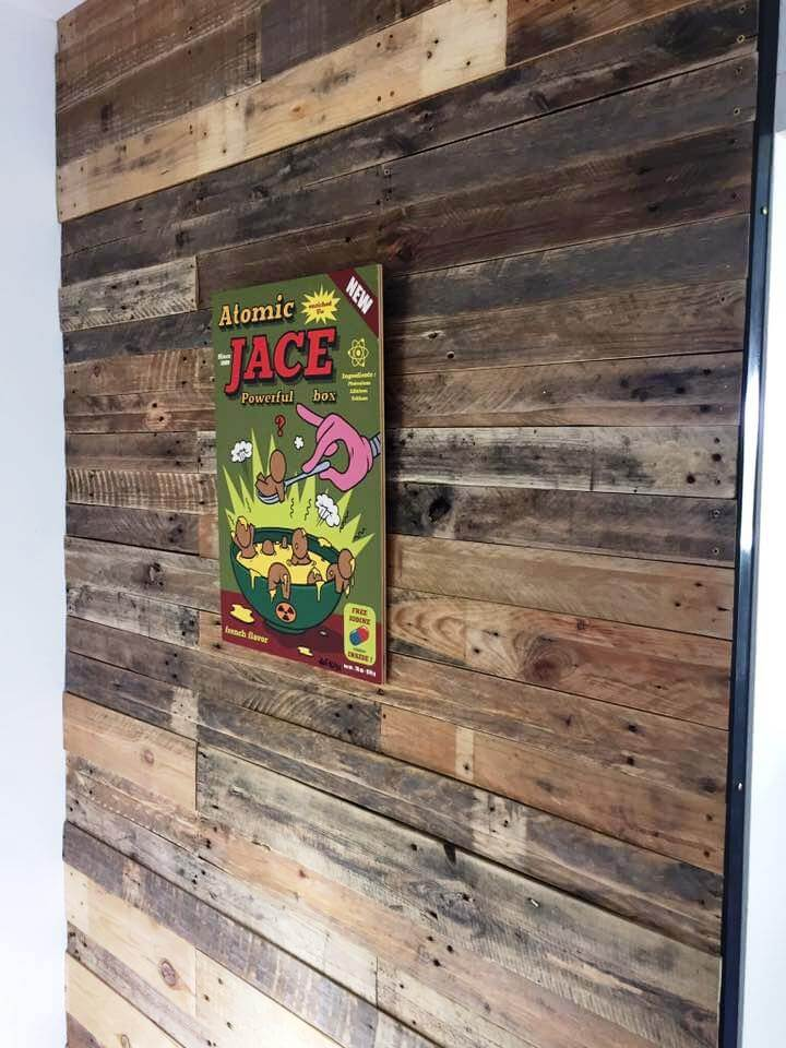 upcycled pallet wall cladding