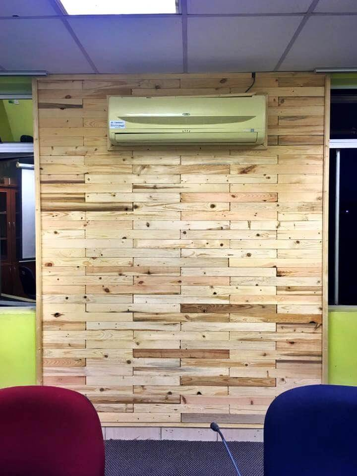 handmade pallet wall paneling