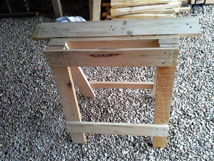 handmade wooden pallet trestle legs