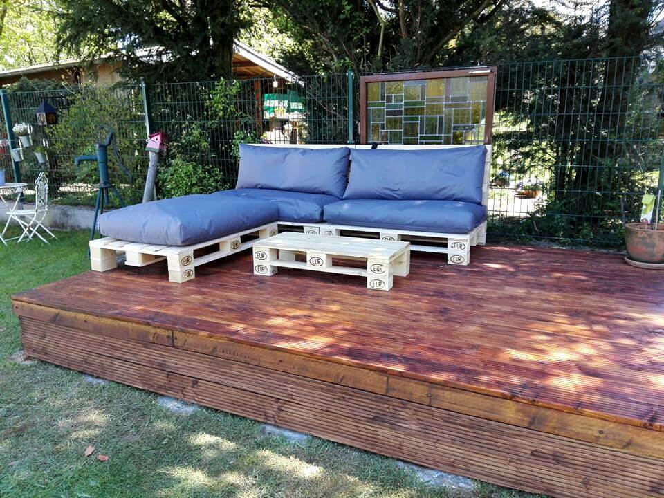 diy awesome pallet sofa design for outdoors | 99 pallets