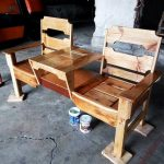 Wooden Double Chair Pallet Bench