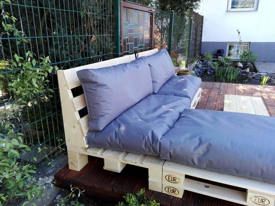 diy pallet outdoor sofa design