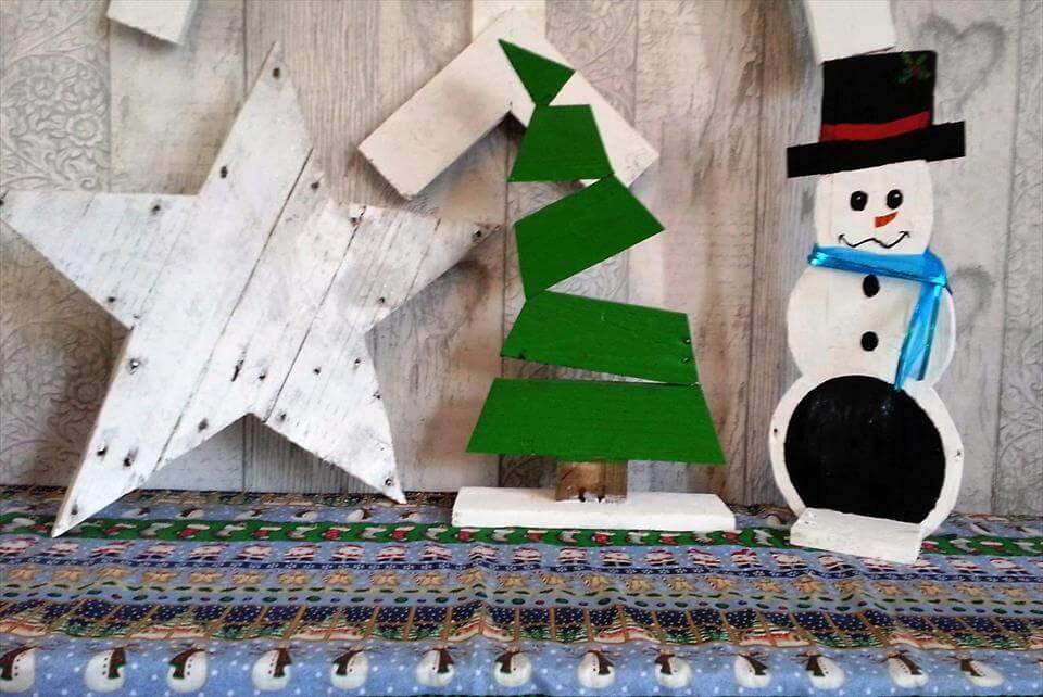 cute and fun pallet Christmas crafts