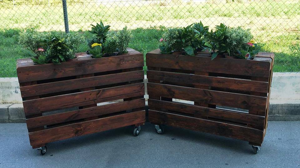 planters made with pallets 99 pallets