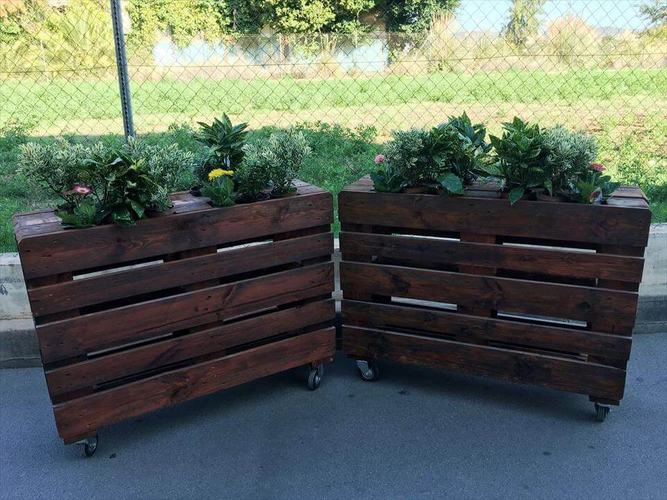 Planters made with pallets 99 pallets for Making planters from pallets
